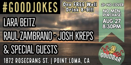 Stand Up Comedy Night at Goodbar Presented by #GOODJOKES Comedy Shows tickets