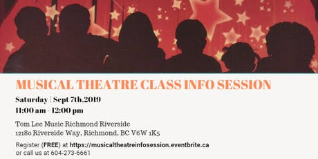 Musical Theatre Class Info Session tickets