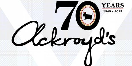 Ackroyd's Bakery's 70th Anniversary Party tickets