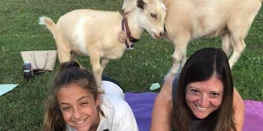 Sunset Goat Yoga