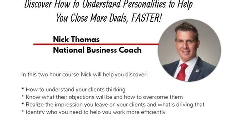 Understanding Your Clients with National Trainer Nick Thomas tickets