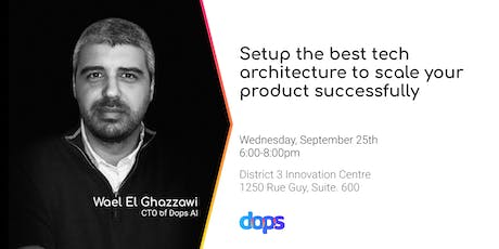 Setup the best tech architecture to scale your product successfully tickets