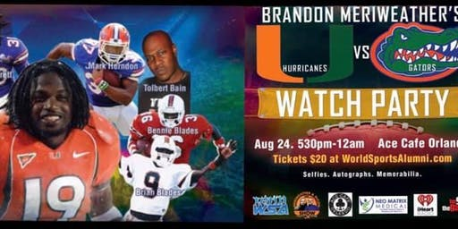 Hurricanes vs Gators WATCH PARTY with College Football Legends