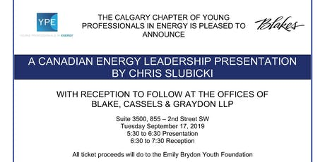 Canadian Energy Leadership Presentation and Reception tickets
