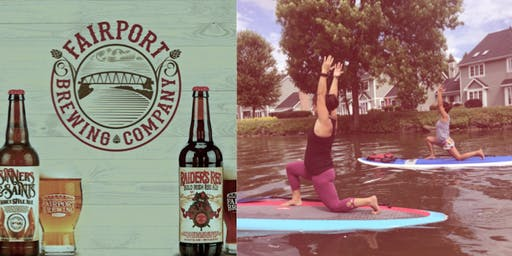 Happy Hour Paddle & Pour: SUP yoga & Beer @Erie Canal!