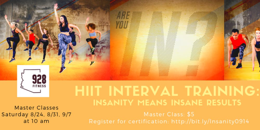 HIIT Interval Training: Insanity Master Class at 928 Fitness