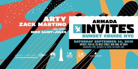 ARMADA Invites Sunset Cruise NYC: ARTY, Zack Martino tickets