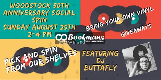 50th Anniversary Woodstock Social Spin with DJ Butta fly