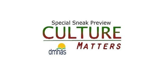 Special Sneak Preview: Culture Matters