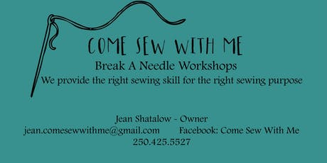 ADULT LEARN TO SEW WORKSHOP. tickets