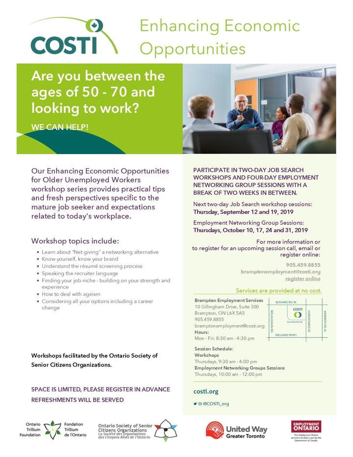 Enhancing Economic Opportunities for Older Unemployed