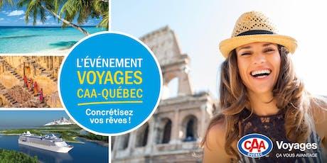 Conférences voyage à Gatineau – Événement Voyages CAA-Québec tickets
