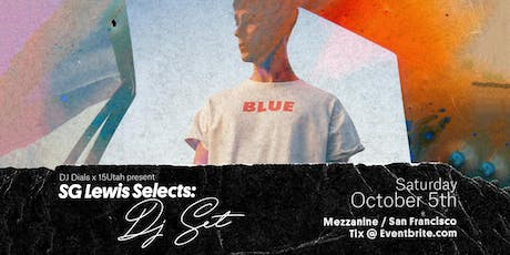SG Lewis Selects: DJ Set  at MEZZANINE tickets