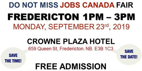 Fredericton Job Fair – September 23rd, 2019 tickets