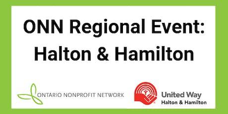 Ontario Nonprofit Network Regional Event: Halton & Hamilton tickets