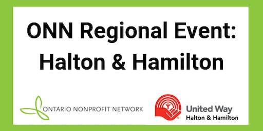 Ontario Nonprofit Network Regional Event: Halton & Hamilton