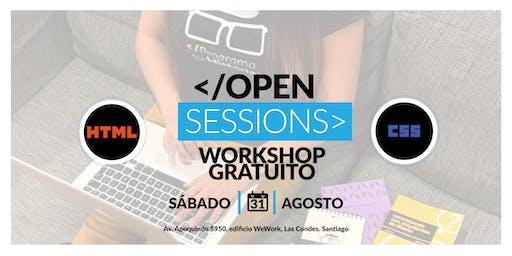 Open Sessions: WorkShop Gratuito - Principios básicos de HTML y CSS