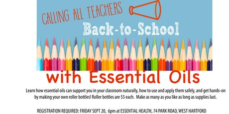 Teachers and Essential Oils tickets