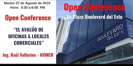 CONFERENCIA: EL AVALUÓ DE OFICINAS Y LOCALES COMERCIALES tickets