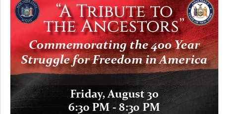 Commemorating 400 Years of Slavery tickets