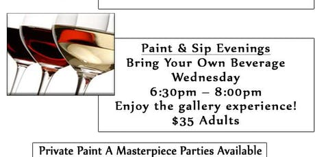 Gallery Experience Paint & Sip tickets