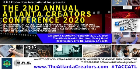 The 2nd Annual Atlanta Creators Conference 2020 tickets
