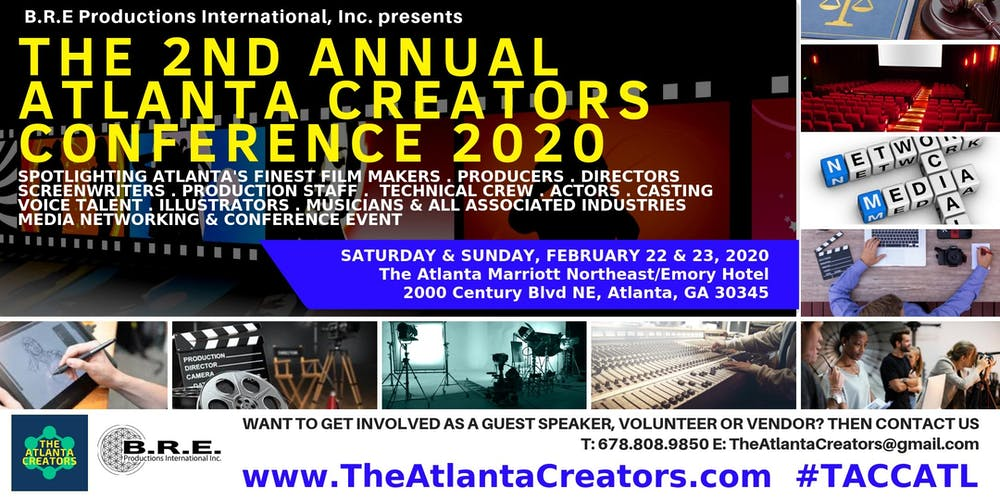 Atlanta Events Chedule 2020.The 2nd Annual Atlanta Creators Conference 2020 Registration