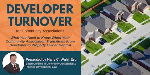 Developer Turnover for Community Associations