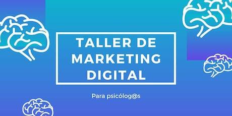 Taller de marketing digital para psicologos y tera entradas