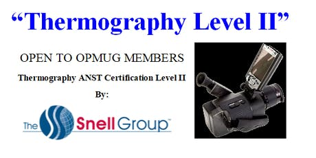 Infrared Thermography Level II tickets