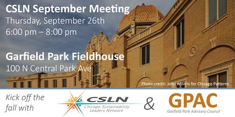 Chicago Sustainability Leaders Network September Meeting tickets