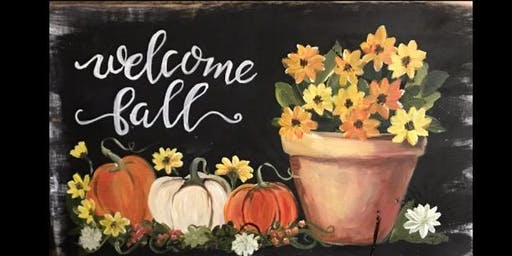 Fall Chalkboard Painting