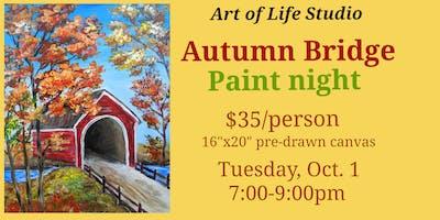 Paint Night: Autumn Bridge