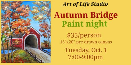 Paint Night: Autumn Bridge tickets