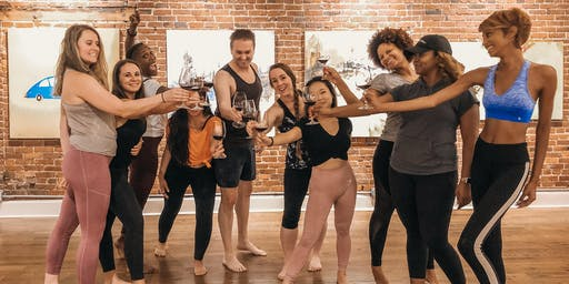 Stretchy, Cultured, and Tipsy: An Evening of Yoga, Art, + Wine
