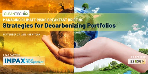 Managing Climate Risks Breakfast Briefing