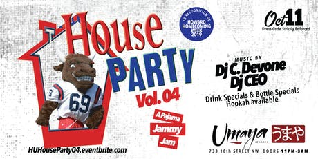 HU House Party Vol. 04: A Pajama Jammy Jam tickets