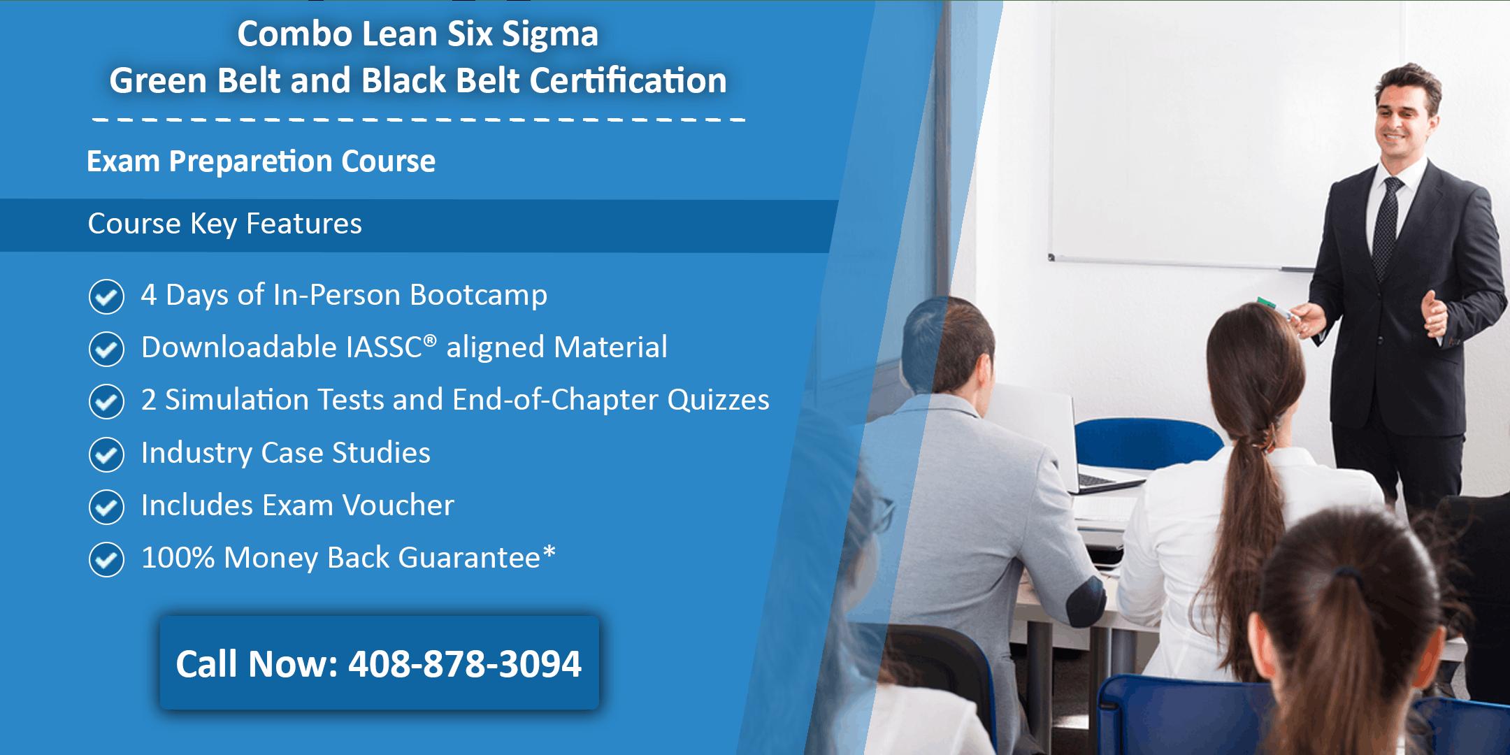 Combo Lean Six Sigma Green Belt and Black Belt Certification Training In Denver, CO