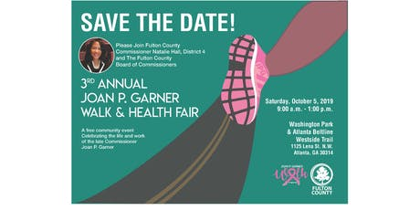 3rd Annual Joan P. Garner Walk & Health Fair tickets