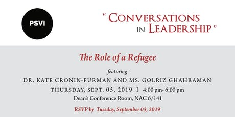 Conversations in Leadership - The Role of a Refugee tickets