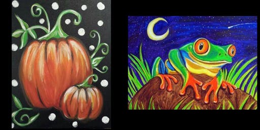 Painter's Choice...Pumpkins and Frogs