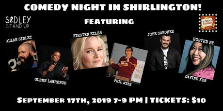 Busboys and Poets presents Comedy Night | Shirlington | September 17, 2019 | Produced by Allan Sidley tickets