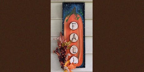 "18"" Wooden Fall Sign Paint and Sip Night- Russo's Pub & Italian Restaurant tickets"