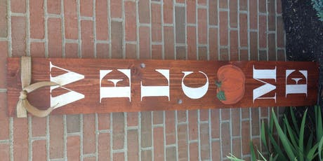 Fall Farmhouse Porch Sign #2 tickets