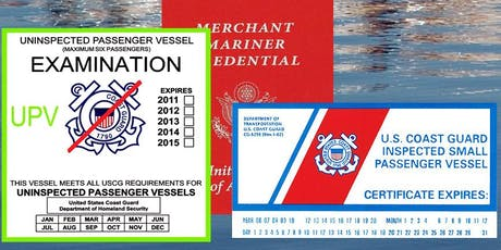 US Coast Guard - Passenger for Hire Workshop for Owners and Operators tickets