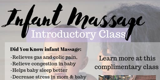 Infant Massage- Free Information Class