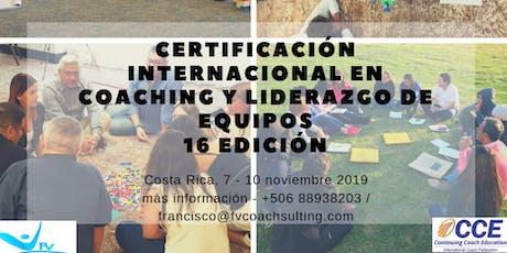 CERTIFICACIÓN INTERNACIONAL EN COACHING Y LIDERAZGO DE EQUIPOS - CCE entradas