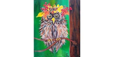"10/12 - Mimosa Morning ""Harvest Owl"" @ Hidden Vine Bistro, Marysville tickets"