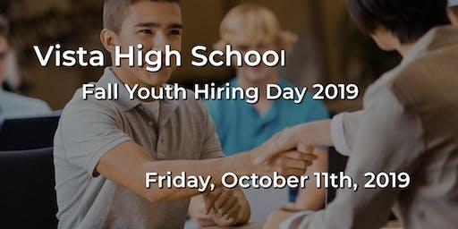 Vista High School - Fall Youth Hiring Day 2019