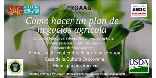 Taller: Cómo hacer un plan de negocios agrícola